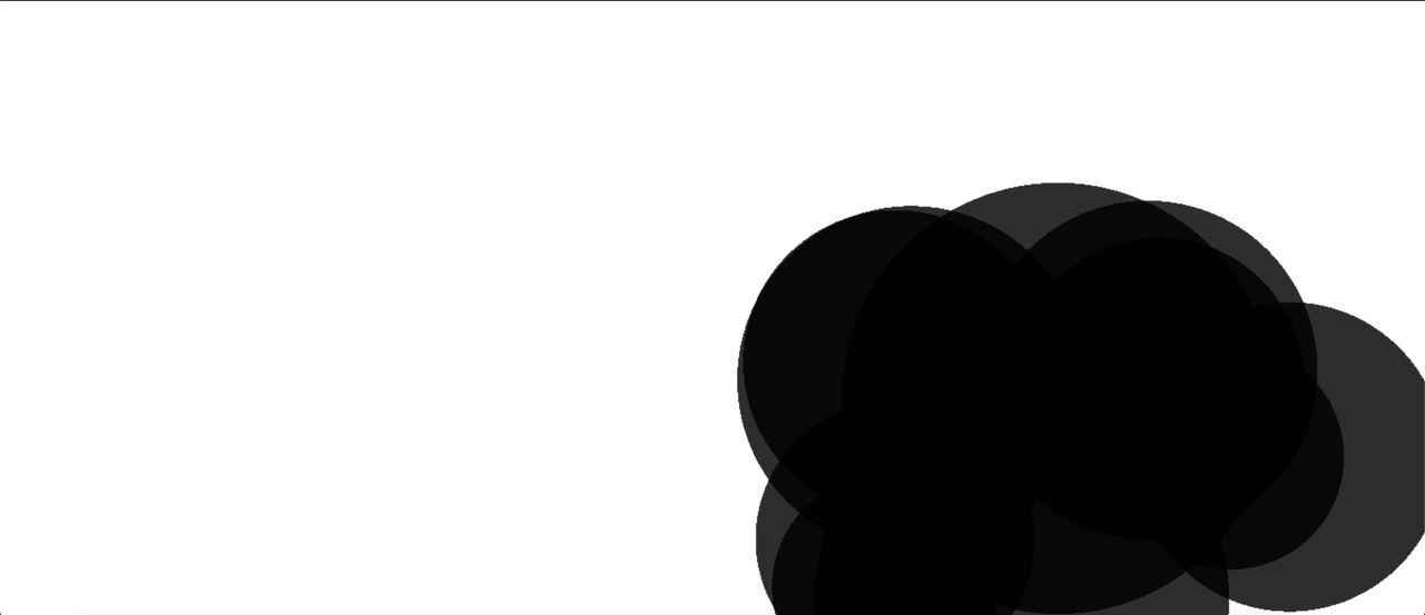 A group of black circles